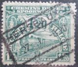 Poštovní známka Belgie 1920 Železniční Mi# 93