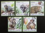 Poštovní známky Komory 2009 Lemuři Mi# 2460-64