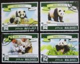 Poštovní známky Maledivy 2015 Pandy Mi# 5840-43