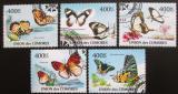 Poštovní známky Komory 2011 Motýli Mi# 2971-75