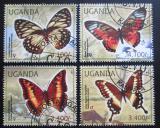 Poštovní známky Uganda 2012 Motýli Mi# 2770-73 Kat 13€