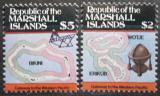 Poštovní známky Marshallovy ostrovy 1986 Mapy ostrovů Mi# 71-72 Kat 20€