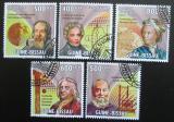 Poštovní známky Guinea-Bissau 2009 Fyzici Mi# 4444-48 Kat 13€