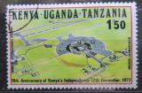 Poštovní známka K-U-T 1973 Letiště Nairobi Mi# 265