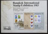Poštovní známky Singapur 1983 Výstava BANGKOK Mi# Block 15