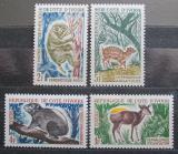 Poštovní známky Pobřeží Slonoviny 1964 Fauna Mi# 259-62