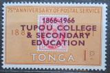 Poštovní známka Tonga 1966 Univerzita Tupou, 100. výročí Mi# 161