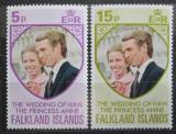 Poštovní známky Falklandské ostrovy 1973 Královská svatba Mi# 220-21