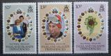 Poštovní známky Falklandské ostrovy Dep. 1981 Královská svatba Mi# 99-101
