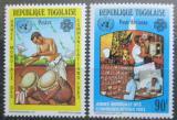 Poštovní známky Togo 1983 Rok světové komunikace Mi# 1645-46