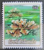 Poštovní známka Cookovy ostrovy 1987 Korály přetisk Mi# 1143