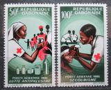 Poštovní známky Gabon 1966 Červený kříž Mi# 236-37