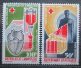 Poštovní známky Gabon 1967 Gabonský červený kříž, 20. výročí Mi# 279-80 Kat 5.50€