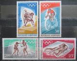 Poštovní známky Gabon 1968 LOH Mexiko z Bloku Mi# 308-11 II