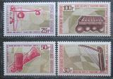 Poštovní známky Gabon 1969 Hudební nástroje Mi# 333-36