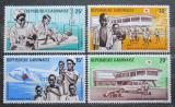 Poštovní známky Gabon 1969 Červený kříž Mi# 337-40