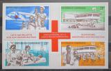 Poštovní známky Gabon 1969 Červený kříž Mi# Block 13