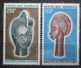 Poštovní známky Gabon 1973 Africké umění Mi# 511-12 Kat 6€
