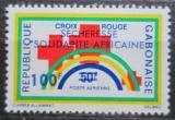 Poštovní známka Gabon 1973 Červený kříž přetisk Mi# 513