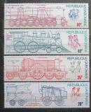 Poštovní známky Gabon 1975 Lokomotivy Mi# 556-59 Kat 11€