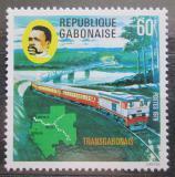 Poštovní známka Gabon 1978 Železnice Mi# 688