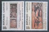 Poštovní známky Gabon 1979 Velikonoce, dřevořezby Mi# 694-95