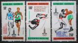 Poštovní známky Gabon 1980 LOH Moskva přetisk Mi# 746-48