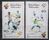 Poštovní známky Gabon 1981 MS ve fotbale Mi# 761-62