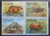 Poštovní známky Gabon 1985 Savci čtyřblok Mi# 930-33 Kat 11€