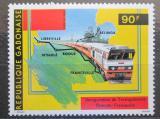 Poštovní známka Gabon 1986 Transgabonská železnice Mi# 977