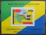 Poštovní známka Gabon 1986 Transgabonská železnice Mi# Block 55