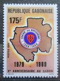 Poštovní známka Gabon 1989 Mapa Gabonu Mi# 1027