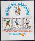 Poštovní známky Gabon 1982 MS ve fotbale Mi# Block 46