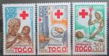 Poštovní známky Togo 1959 Červený kříž Mi# 268-70