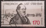 Poštovní známka Německo 1989 Friedrich List, ekonom Mi# 1429