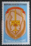 Poštovní známka Čad 1972 Znak 1. regimentu, vojenská Mi# 3