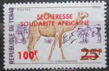 Poštovní známka Čad 1973 Velbloud přetisk Mi# 667