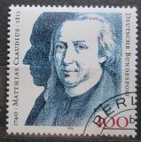 Poštovní známka Německo 1990 Matthias Claudius, spisovatel Mi# 1473
