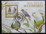 Poštovní známka Komory 2009 Papoušci Mi# Block 521 Kat 15€