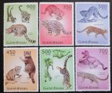 Poštovní známky Guinea-Bissau 2010 Kočkovité šelmy Mi# 5041-46 Kat 14€