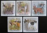 Poštovní známky Guinea-Bissau 2009 Lovečtí psi a kachny Mi# 4486-90 Kat 14€