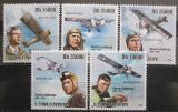 Poštovní známky Svatý Tomáš 2009 Charles Lindberg a Spirit Mi# 4271-75 Kat 11€