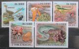 Poštovní známky Svatý Tomáš 2009 Dinosauři a minerály Mi# 4103-07 Kat 11€