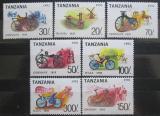 Poštovní známky Tanzánie 1992 Jízdní kola Mi# 1445-51