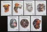 Poštovní známky Tanzánie 1993 Psi Mi# 1599-1605