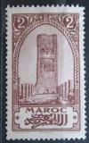 Poštovní známka Francouzské Maroko 1923 Věž Hassan v Rabatu Mi# 50