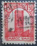 Poštovní známka Francouzské Maroko 1943 Hassanova věž Mi# 197