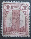 Poštovní známka Francouzské Maroko 1943 Hassanova věž Mi# 206