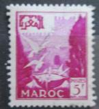 Poštovní známka Francouzské Maroko 1952 Holubi na fontáně Mi# 334