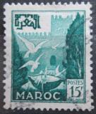 Poštovní známka Francouzské Maroko 1954 Holubi na fontáně Mi# 339